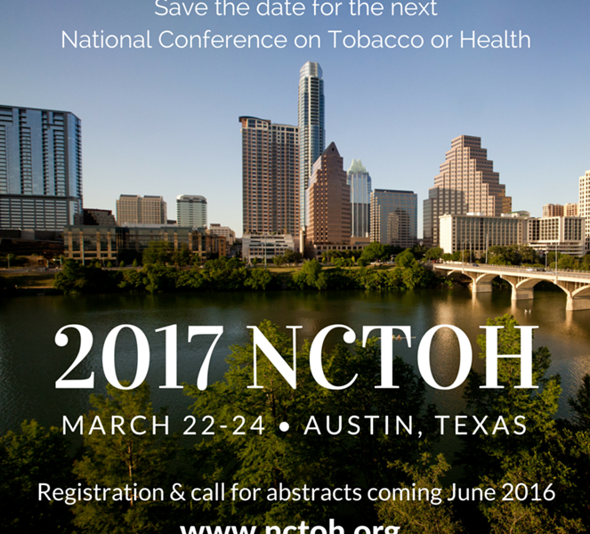 SAVE THE DATE: National Conference on Tobacco or Health (NCTOH)