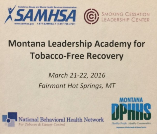Montana Launches its Statewide Initiative on Tobacco-Free Recovery