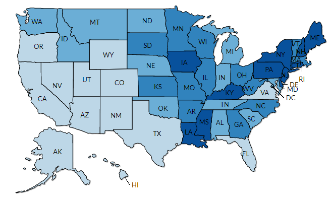 Interactive Map: Leading Cancer Cases and Deaths, 2014