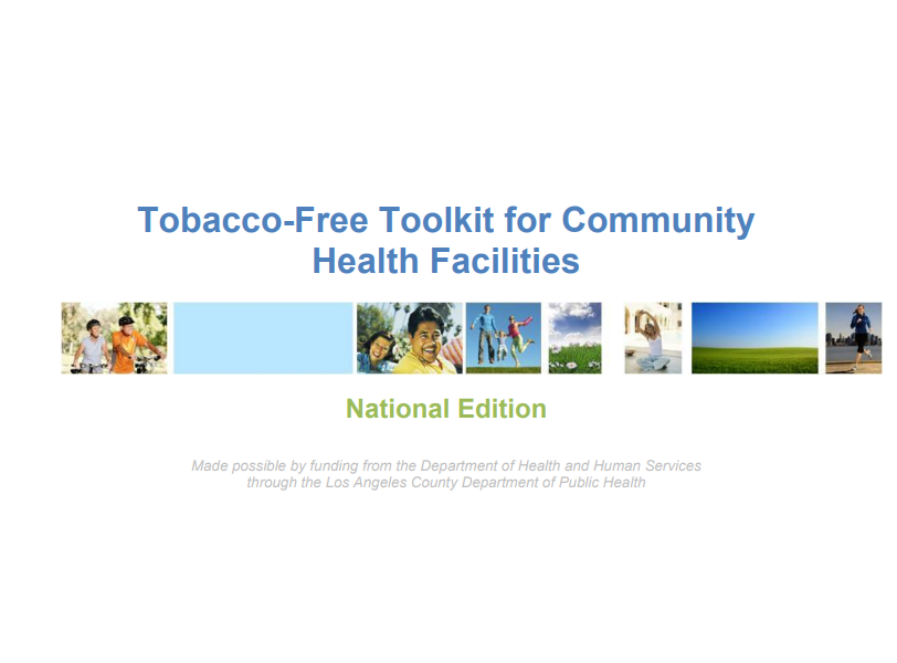 Tobacco-Free Toolkit for Community Health Facilities