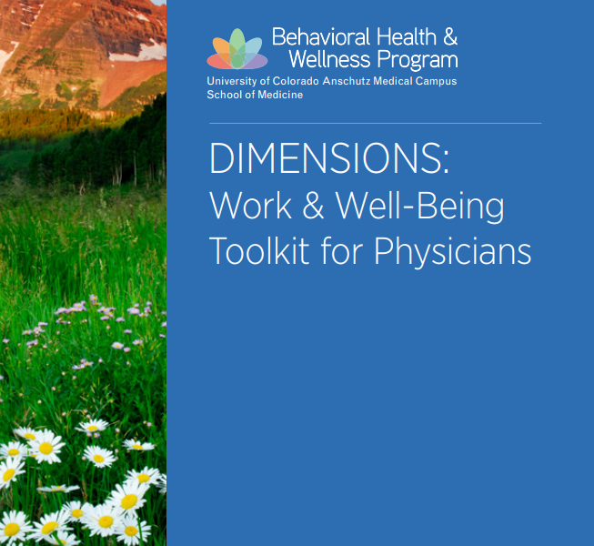 DIMENSIONS: Work & Well-Being Toolkit for Physicians