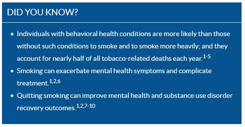 What We Know: Tobacco Use & Quitting Among Individuals with Behavioral Health Conditions